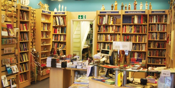 Shop floor at theCTS bookshop in London