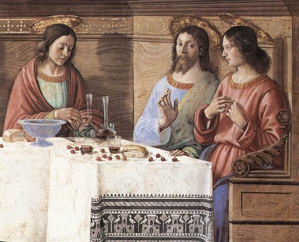 Fresco, San Marco, Florence- scene from the Last Supper.