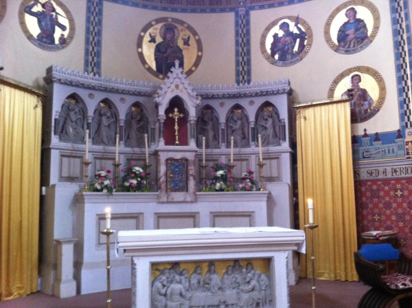 The beautiful Sanctuary at St Mary Immaculate, Warick