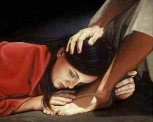 the Story of Mary and MArtha: Mary is doing 'the better part', listening to the Lord's teaching.