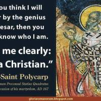 'Hear me clearly, I am a Christian.'