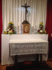 I had an opportunity to pray in front of the Crucifix Blessed Newman prayed in front of daily.