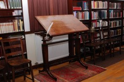 Newman's writing desk on which Blessed Barberi performed the mass after Newman's conversion. Newman never write on it again and kept it inverted after this .