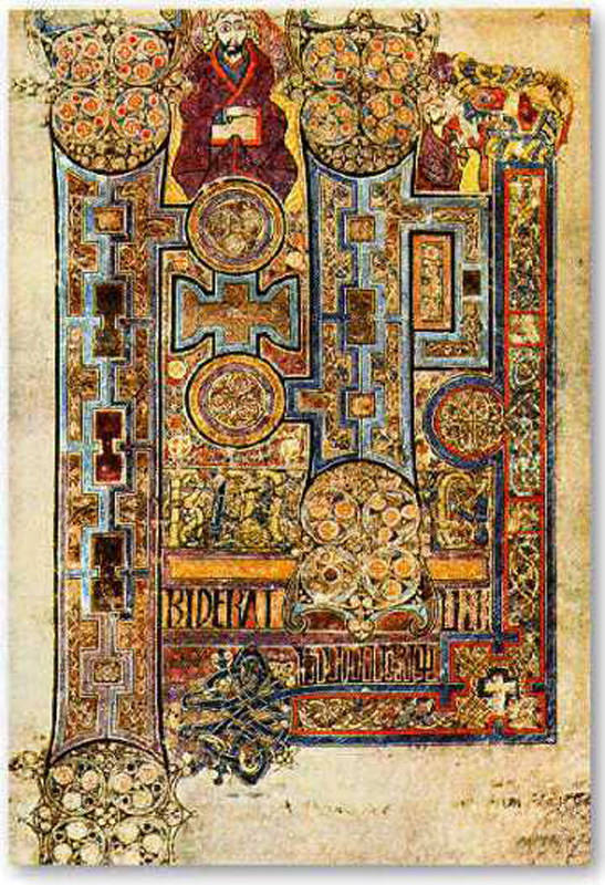 Image @ http://celticmythpodshow.com/blog/the-four-gospels-of-st-briget-kildare/