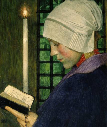 """Candlemas Day"" by Marianne Stokes (1855–1927) Austrian Painter"