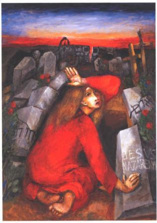Woman at the tomb- by Sieger Köder