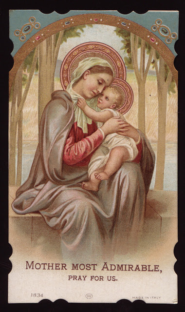 Mother most admirable,. Pray for us.
